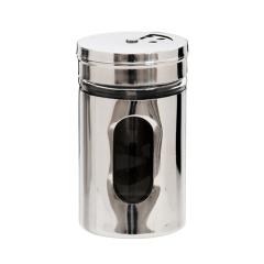 不锈钢带视窗可调节烧烤撒料瓶 家用调味罐 小礼品大全