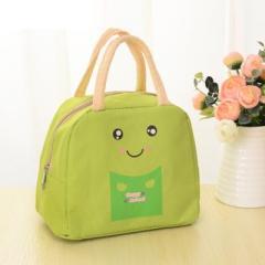 動漫卡通飯盒袋出游保溫包 便當包--綠色