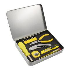 15合1菲尔家用工具组合套装 多功能组合工具15件套铁盒装 生活实用礼品