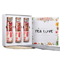 Tea Love玫瑰花茶禮盒套裝 繽紛玫瑰3瓶裝 企業年會員工福利禮品