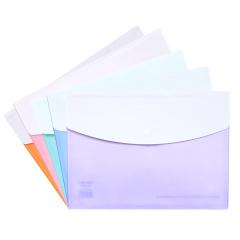得力(deli)A4按扣文件收纳袋 资料袋 文件袋 学生礼品定制