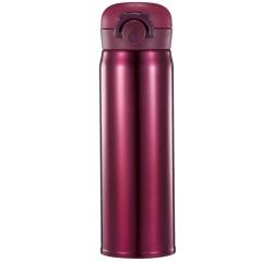 350ml纯色保温杯  轻巧杯身自由掌握 炫薄轻盈弹跳杯盖 又大又便宜的活动礼品