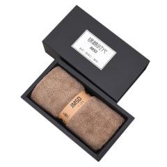 【黑色盒子】珊瑚绒超细纤维材质 单条毛巾礼盒装  舒适面料强劲吸水 年末小礼品