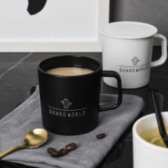 北欧风带盖水杯 咖啡杯--黑色仙人掌 促销礼品都有什么