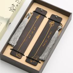 古典中国风 红木书签套装 创意古风礼物  送客户什么礼品最实用