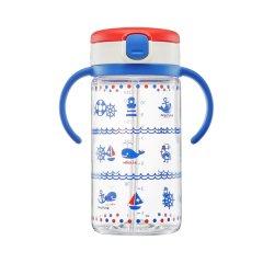 利其尔(Richell)儿童吸管水杯宝宝学饮吸管杯带手柄320ml 母婴宣传小礼品