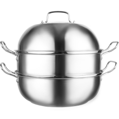 IBOH 蒸蒸日膳大口径双层蒸锅 32CM不锈钢蒸煮汤锅 家用礼品