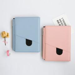 三折磁扣皮面记事本 糖果色活页本 创意商务礼品