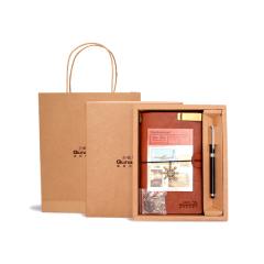 笔记本商务套装礼盒 会议礼品定制做LOGO 高端创意礼品会议笔记本套装 企业礼品定制