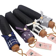 黑胶盒装创意晴雨伞 挡雨防晒防紫外线