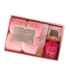珊瑚绒毛巾手工皂花茶组合礼盒 创意暖心伴手礼 活动礼品