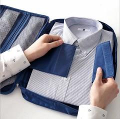 商务出行衬衫收纳包 差旅衬衣领带收纳包 手拿方便防水面料 商务出行送什么礼物