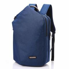 斜折设计17寸潮牌提手双肩包 USB充电商务电脑包 旅行出差背包