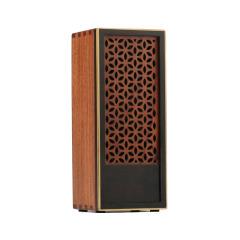 红木质镂空团花音响  便携设计 实用礼品
