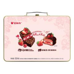 【京東伙伴計劃—僅限積分兌換】好麗友(orion)紅絲絨蛋糕 派魅力禮盒 504g