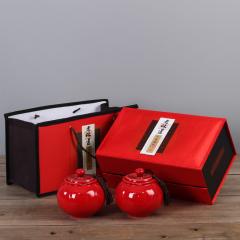 【老味道】大气红色陶瓷茶叶罐 中秋礼品