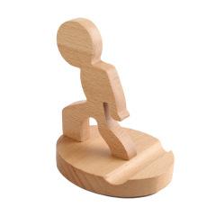 【大力士】创意手机木制底座 手机支架 展会纪念品 会议小礼品