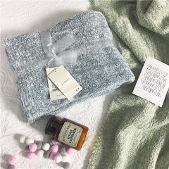 羽毛纱多用途盖毯 纯色简约旅行毯 保暖毯子 福利品啥好 公司普发礼品