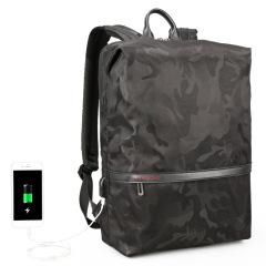 迷彩带USB出差户外休闲双肩包 15.6寸电脑包 书包 送什么礼品给客户