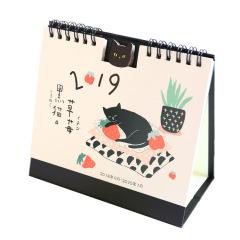 黑貓和草莓 2019辦公桌面臺歷定制 會展上的禮品