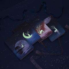 夜光彩页笔记本 印刷美观 圆角包边本子厚实 吸引学生的奖品
