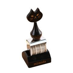 米兰达猫复古印章 可调节滚轮日期 文创礼品