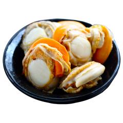 【京東伙伴計劃—僅限積分兌換】凍煮裙邊扇貝 去內臟 250g 25-35粒 袋裝