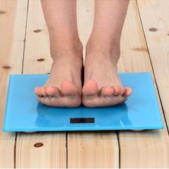 巴莱奇精准钢化玻璃电子秤 人体健康秤--蓝色