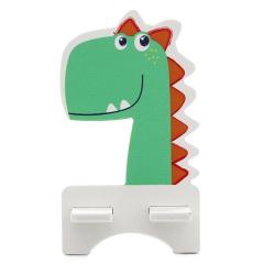 恐龙款动物造型手机支架 木质懒人支架 展会小礼品