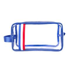 商务差旅洗漱包 大容量手提收纳包 防水透明PVC包