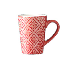 简约色釉陶瓷马克杯 欧美咖啡杯 好看创意礼品