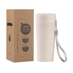 环保材质 BPA小麦秸秆 可降解创意带绳子水杯 广告礼品杯定制