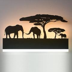 【剪影·大象】一盏灯 一幅画 创意剪影壁灯 公司周年庆典礼品推荐