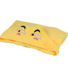 【emoji】滑稽趣味表情披肩毛毯 滑稽表情懶人披風 珊瑚絨辦公室午休毯 員工生日禮物