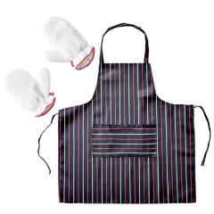 SOFTNIE 厨房用品洗碗手套围裙无忧三件套 促销礼品定制