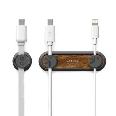 TUP2代木纹磁吸数据线整理器 磁吸固定器 充电线收纳夹 创意数码促销礼品