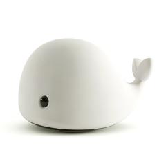 萌趣海豚拍拍灯 创意USB充电智能硅胶小夜灯 卡通LED七彩变色灯 员工生日礼物