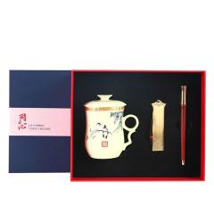 【同心】商务红木笔茶具套装 商务礼品 商务场合适合送什么礼物