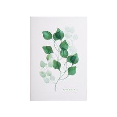 北歐森林系列A5皮面筆記本 綠榕款線裝手賬本 創意商務禮品