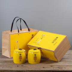 【兰亭小序】典雅富贵黄高档陶瓷茶叶罐 聚会礼品