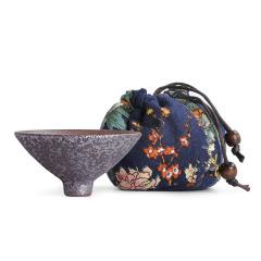 斑驳铁锈釉茶杯 铜锈斗笠杯 单杯礼品定制 给大客户送什么礼品