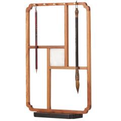 复古窗棂桐木笔架 精美设计 活动纪念礼品