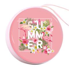 粉色火烈鳥零錢包 簡約小巧收納包 三八婦女節禮物