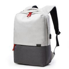爆款时尚17寸学生USB充电双肩包 男式个性背包撞色款 休闲旅游出差时尚电脑包书包礼品定制