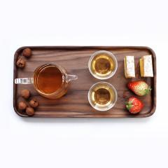 黑胡桃木長方形水果盤 干果盤水杯托盤 實用復古
