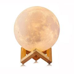 创意3D月球灯 LED月亮灯 办公家居装饰台灯 拍拍小夜灯 中秋礼品