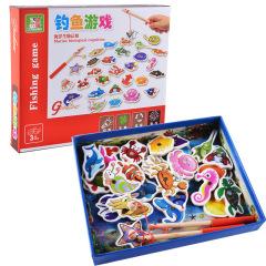 儿童桌面游戏 磁性钓鱼益智玩具