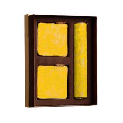 【龙满乾坤】文化礼品套装 真丝鼠标垫+真丝杯垫(2个)三件套 创意中国文化礼品