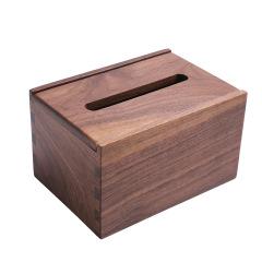 小号黑胡桃纸巾盒 创意设计 广告活动礼品