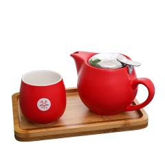 【私享】茶·功夫茶具 一壺一杯一托茶具禮盒套裝 適合年會的小禮品